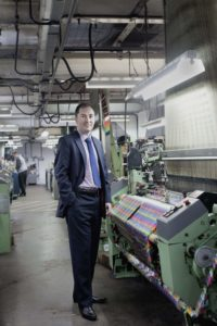 Vanners MD at silk weaving mill lr